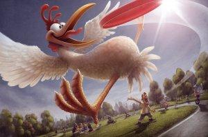 xchickendcartoonanimalchickenfrisbeepictureimagedigitalart